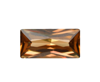 Cubic Zirconia - Rectangle - Champagne (BPC)