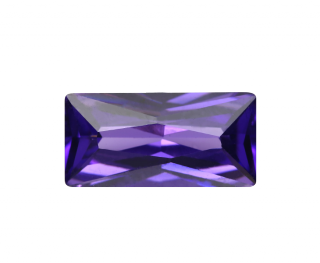 Cubic Zirconia - Rectangle - Purple A (BPC)