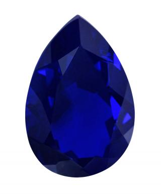 Synthetic Sapphire - Corundum Pear - Blue #35 (PS)