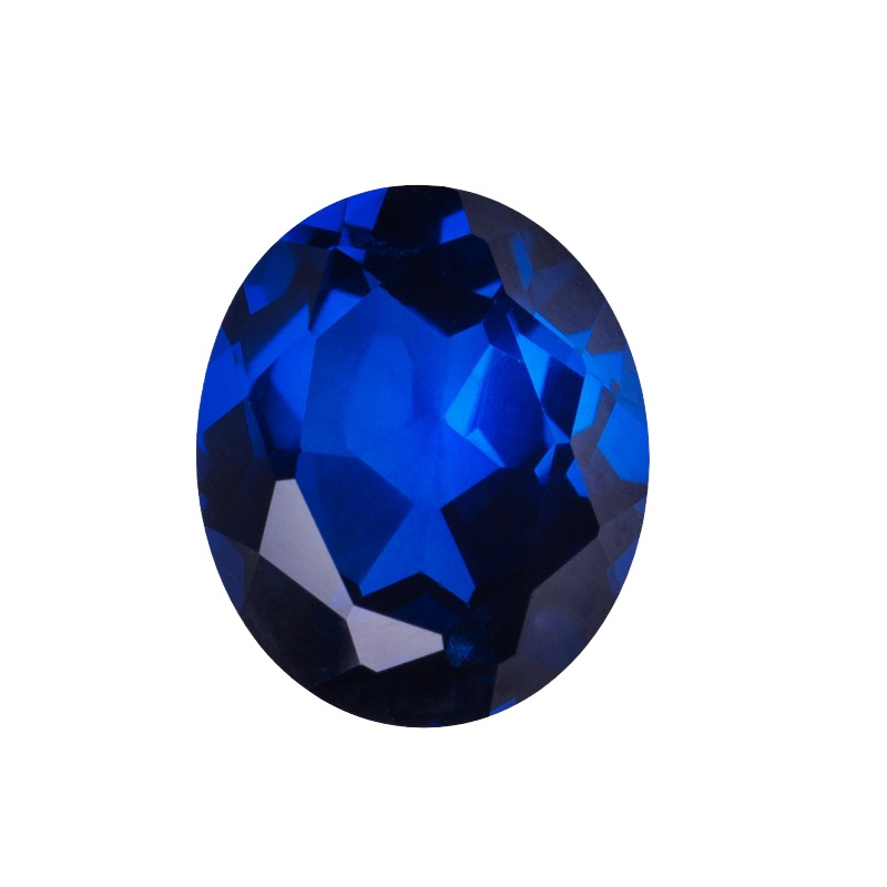 Synthetic Sapphire - Corundum Oval - Blue #35 (OS)
