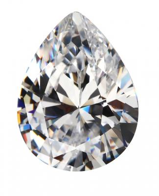 Cubic Zirconia - Pear - White (PS)