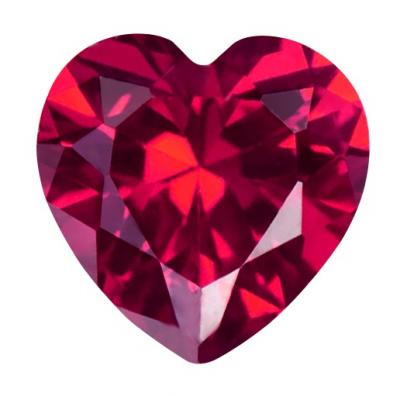 Synthetic Ruby - Corundum Pear - red #5 (HS)