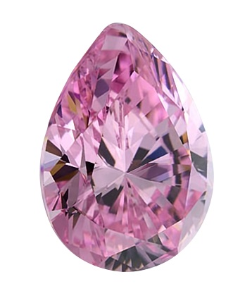 Cubic Zirconia - Pear - Pink (PS)
