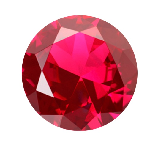 Synthetic Ruby - Corundum Round - red #5 (RS)